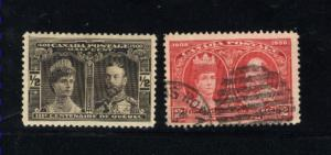 Canada #96, 98  -2  used     PD