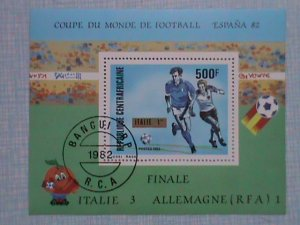 1982 CENTRAL AFRICAN EMPIRE: SPAIN FOOTBALL ESPANA' 82 S/S