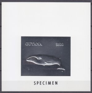 1993 Guyana Bb silver Lux Marine fauna - Whales SPECTMEN 50,00 €