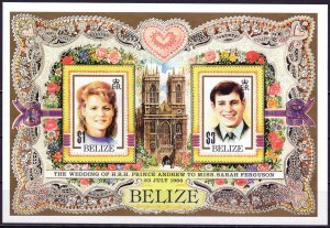Belize. 1986. bl84. Princess. MNH.