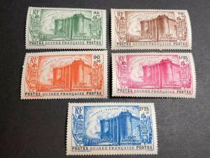 French Guinea Scott B3-7 Mint OG CV $47.50