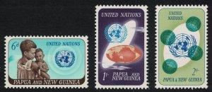 Papua NG 20th Anniversary of UNO 3v SG#79-81