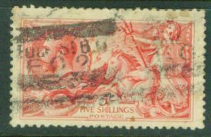 Great Britain Scott 180 Britannia Searhorse 1919 CV$125