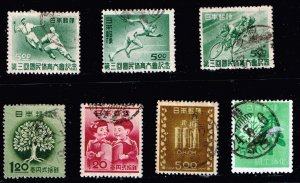 JAPAN STAMP OLD USED STAMPS COLLECTION LOT  #W1