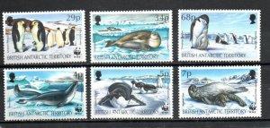 British Antarctic Territory 192-197 MNH