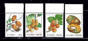 Zambia 474-77 MNH 1989 Fruits    (ap1082)