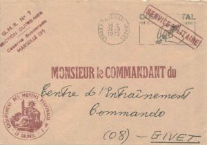 France Military Free Mail 1972 13998 Marseille Armees Code Postal Mot de Pass...