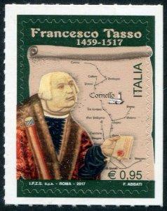 HERRICKSTAMP NEW ISSUES ITALY Sc.# 3482 Francesco Tasso (Map) Self-Adh.