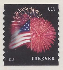 #4854 (49c Forever) Star Spangled Banner Coil Single 2014...