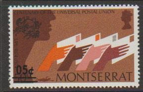 Montserrat SG 336   Mint Very Light Hinge Surch 05c on 50...