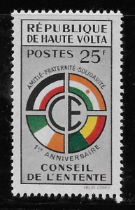 Upper Volta 1960 Council of the Entente Sc 90 MH A1256