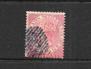 STRAITS SETTLEMENTS  1867-72  4c   QV   FU   SG 12