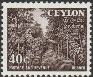 Ceylon, #323  Unused From 1954