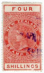 (I.B) New Zealand Revenue : Stamp Duty 4/-