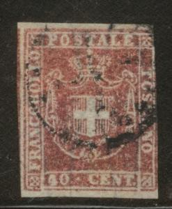 Tuscany Scott 21, wmk 184 Genuine CV $425