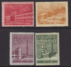 1963 Albania Production complete set MMHH Sc# 672 / 675 CV $22.40 Stk #1