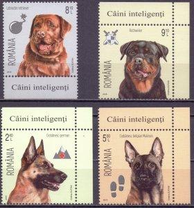 Romania. 2015. Dogs. MNH.