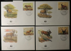 Republic of Mali 1986 FDC WWF giant eland animals mammals