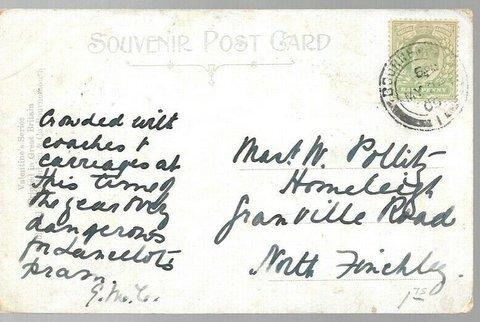 #SG217 GB / KING EDWARD VII THE SQUARE,BOURNMOUTH 1905 POSTCARD