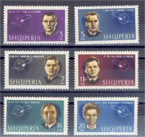 ALBANIA, ASTRONAUTS 1964 NEVER HINGED SET **