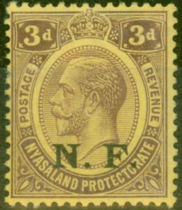 Tanganyika 1916 3d Purple-Yellow SGN3 Fine Mtd Mint