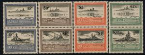 St Vincent Grenadines - Bequia 186-93 MNH WWI Warships