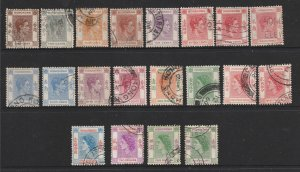 Hong Kong a selection of KGVI & QE2 used deffs