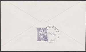 GB LUNDY 1988 cover - Puffin stamp - .......................................F851