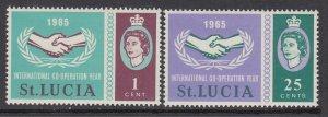St Lucia 199-200 MNH VF