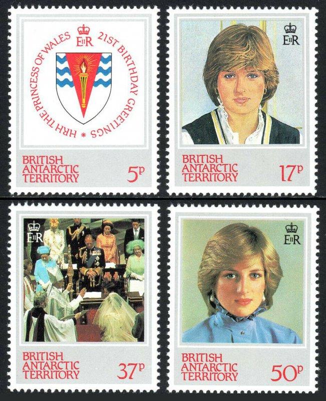 British Antarctic Territory 92-93,MNH. Princess Diana.Arms,Wedding,Portrait,1982