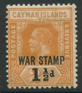 Cayman Islands -Scott MR6 -War Stamp Issue -1919 -MH -Single 1.1/2d on a 2.1/2d