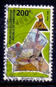 Cameroon  2000   used   national symbols 200f.    #