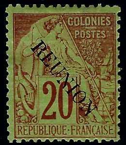 Reunion Sc #23 Mint F-VF SCV$45...French Colonies are Hot!