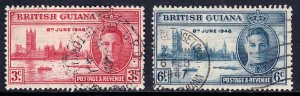 British Guiana - Scott #242-243 - Used - SCV $1.40