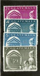 GUATEMALA C386-9 MNH SCV $2.25 BIN $1.15