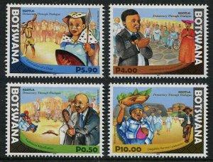 HERRICKSTAMP NEW ISSUES BOTSWANA Sc.# 1014-17 Democracy Through Dialogue Mint NH