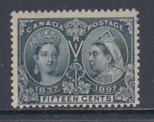 Canada Sc 58 MLH. 1897 15c steel blue QV Jubilee F-VF