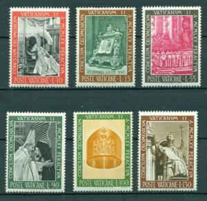 Vatican City #439-44 comp mnh cv $1.20