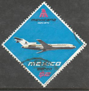 MEXICO C431, 50th Anniversary of Mexicana Airlines USED. F-VF.(1304)
