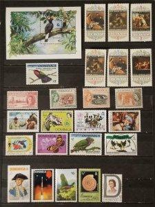DOMINICA Premium Stamp Lot MH Unused Hinged T8034