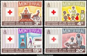 Montserrat Scott 227-230 Mint never hinged.