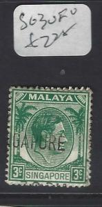 SINGAPORE (PP0502B)  KGVI  3C  SG 3  VFU