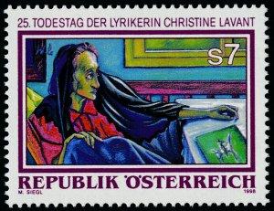Austria 1764 MNH Christine Lavant, Poet