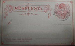 O) CHILE, COLUMBUS - COLON 2c - RESPUESTA, POSTAL STATIONERY, XF