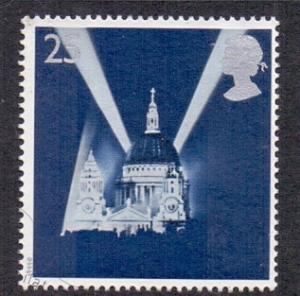 Great Britain 1995 used Europa peace and freedom 25p searchlights  #