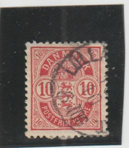 Denmark  Scott#  39  Used  (1885 Arms)