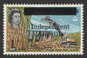 ANGUILLA : 1967 'Independent Anguilla' QEII Sugar Cane 1c. MNH **.