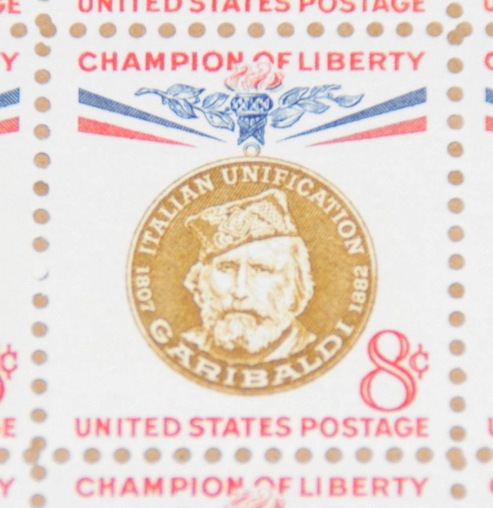 1960 Sheet 8 Cent Champion Of Liberty Giuseppe Garibaldi Sc 1169