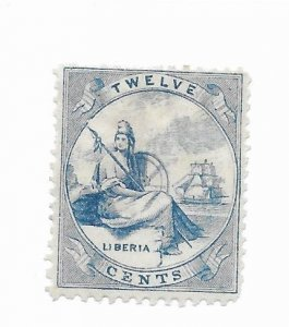 Liberia #14 Fake Perfs Forgery Used - Stamp