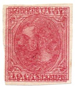 (I.B) Spain Postal : King Alfonso 10c (multiple print)